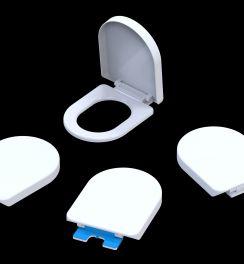 درب توالت فرنگی جک دار آسان بازشو آرشا فلت