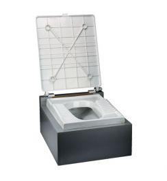 درب توالت زمینی با پدال