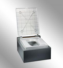 درب توالت زمینی بدون پدال