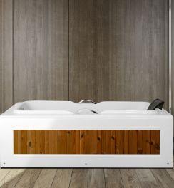 وان حمام سني وان با پانل طرح چوب